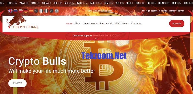 [SCAM] Review Crypto Bulls [US] - Lãi từ 1% hằng ngày - Hoàn vốn đầu tư