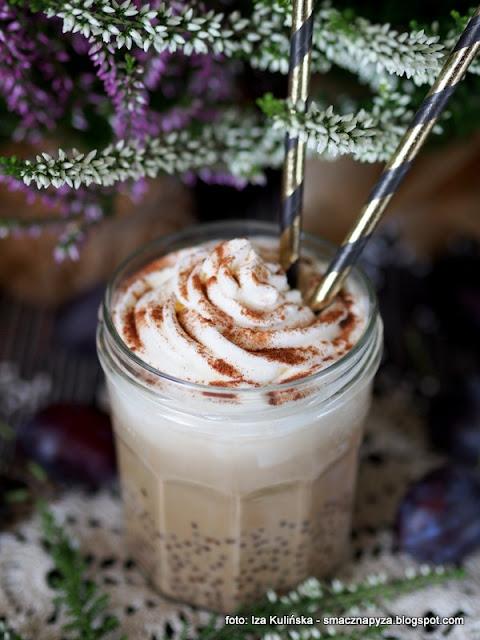 napoj kawowy, deser kawowy, kuleczki tapioki, kawa zbozowa, kawa inka, kawa na zimno