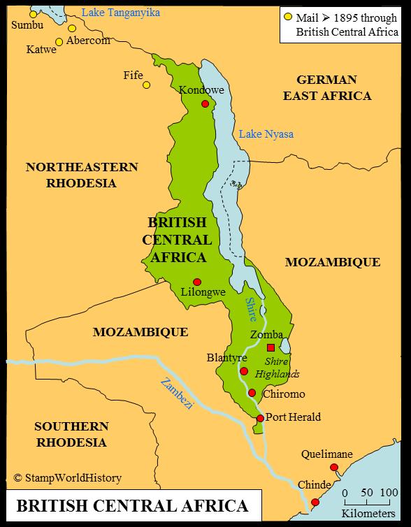 Big Blue 1840 1940: British Central Africa   a closer look