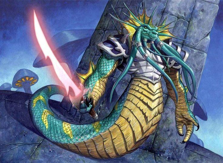 CROSS PLANES: Monster Monday: Naga Myrmidon for World of