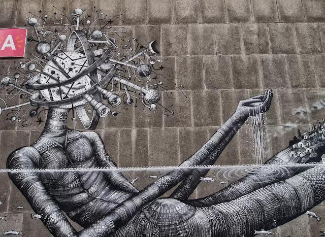 Street Art By Phlegm For Day One Festival In Antwerp, Belgium. 4