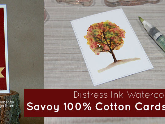 Watercolor with Distress Inks