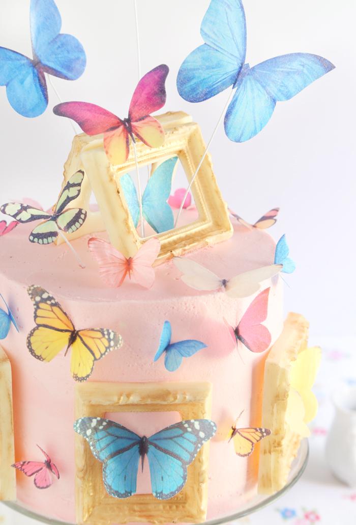Butterfly Gallery Cake Sprinkle Bakes