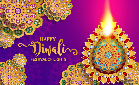 Ornate decor with diwali background free vectors