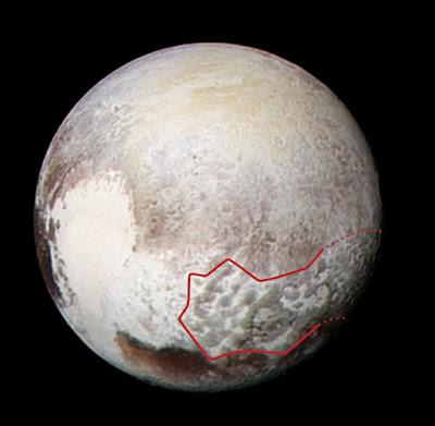 Pluto's bladed terrain in 3-D
