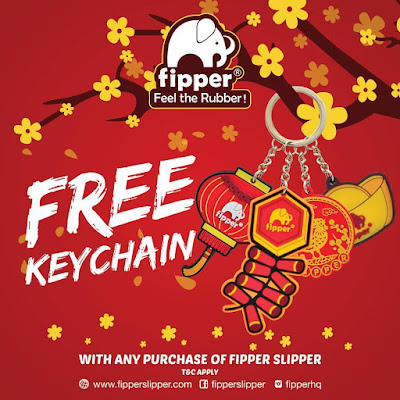 Fipper slipper free keychain CNY promo