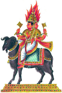 Image of Lord Agni Seated on Ram