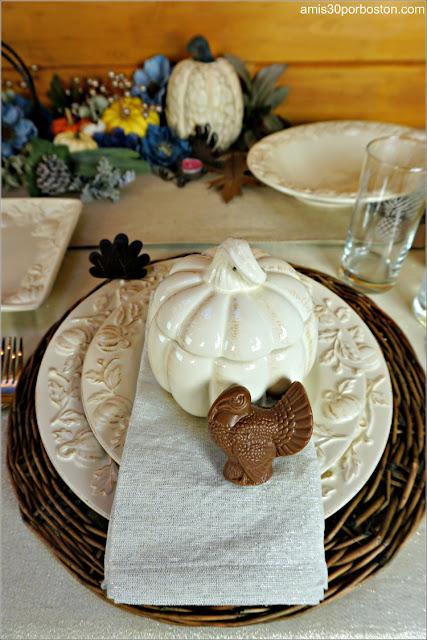 Pavo de Chocolate en mi Mesa de Acción de Gracias