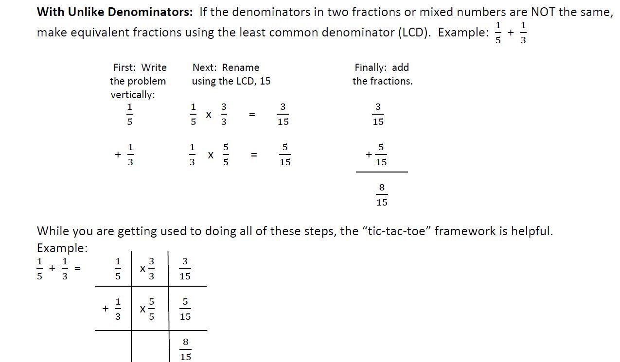Homework help subtracting fractions