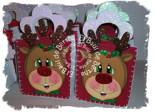 Dulcero Navidad con Carita de Santa y Reno en Foamy Dulceros%2Bnavide%C3%B1os%2Bsanta%2By%2Breno%2B(1)