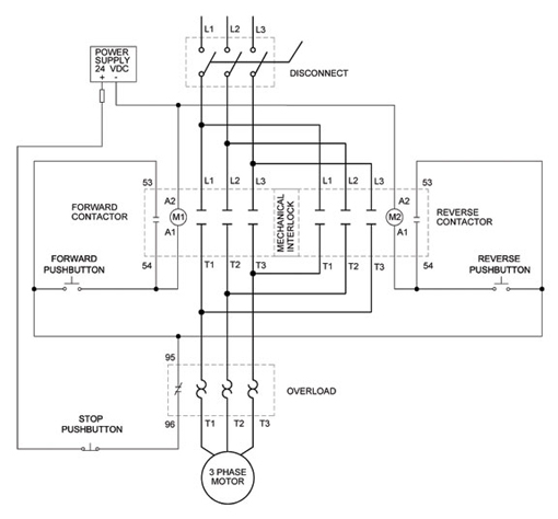 interlocking relay wiring diagram