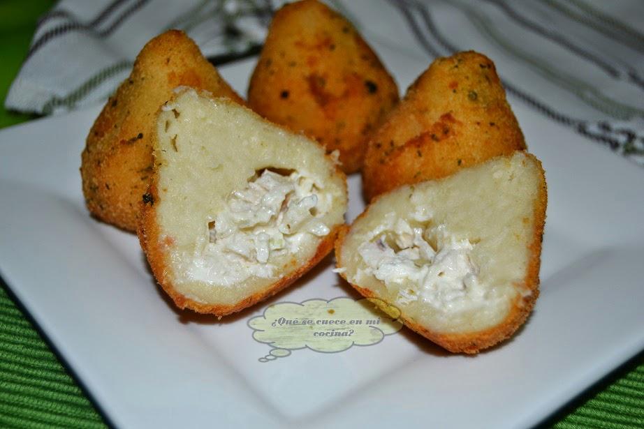 COXHINAS rellenas de pollo y queso
