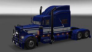 Jack C. Moss Trucking Inc. skin for Peterbilt 389
