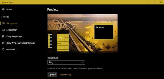 تطبيقات ويندوز مفيدة لتغيير الخلفيه تلقائيا كل يوم