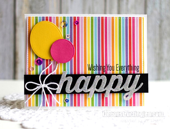 Happy Everything stamp set, Happy Duo and Balloon STAX, Blueprints 13 Die-namics - Jen Shults #mftstamps