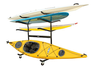 kayak and paddleboard retail rack