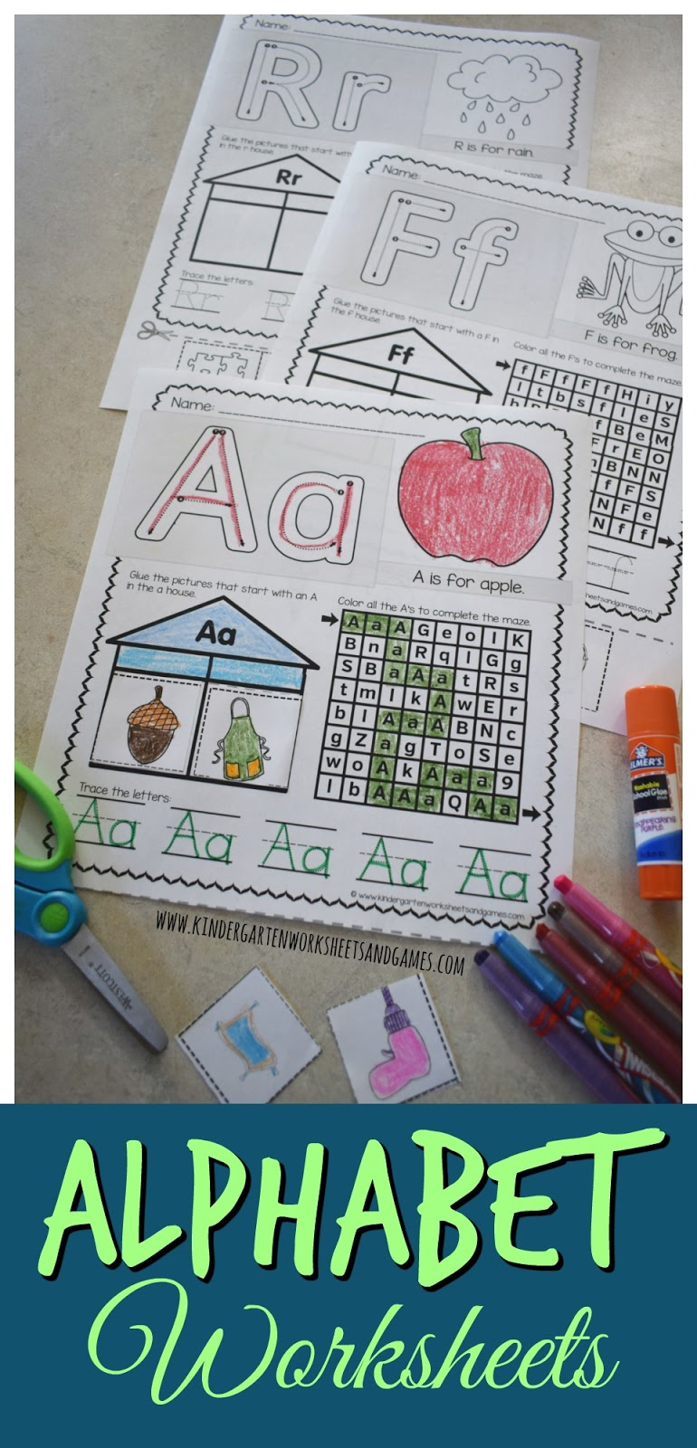 Kindergarten Worksheets And Games Free Alphabet Worksheets