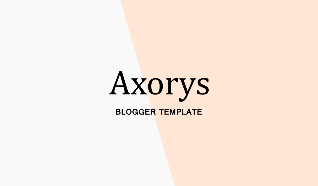 axorys magazine style free blogger template