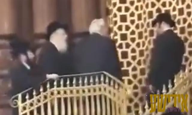 אַמבאַסאַדאָר דוד פריעדמאן באזוכט בעלזא
