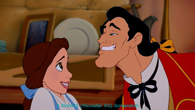 Belle and Gaston in Beauty and the Beast
