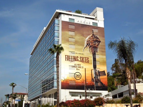 Falling Skies season 4 billboard Sunset Strip