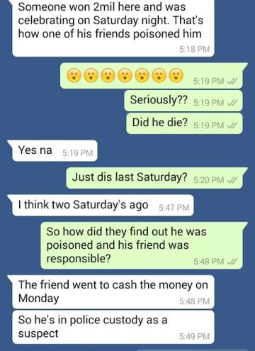 Man in Calabar poisoned by friend