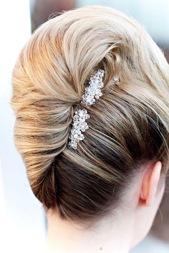 Swell Bridal French Twist Hairstyles Short Hairstyles Gunalazisus
