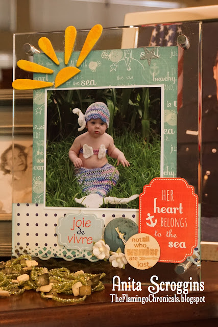 Mermaid Baby Clear Frame