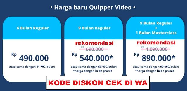 Update Kode Promosi Quipper Video Di Artikel Ini