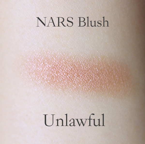 NARS blush Unlawful swatch