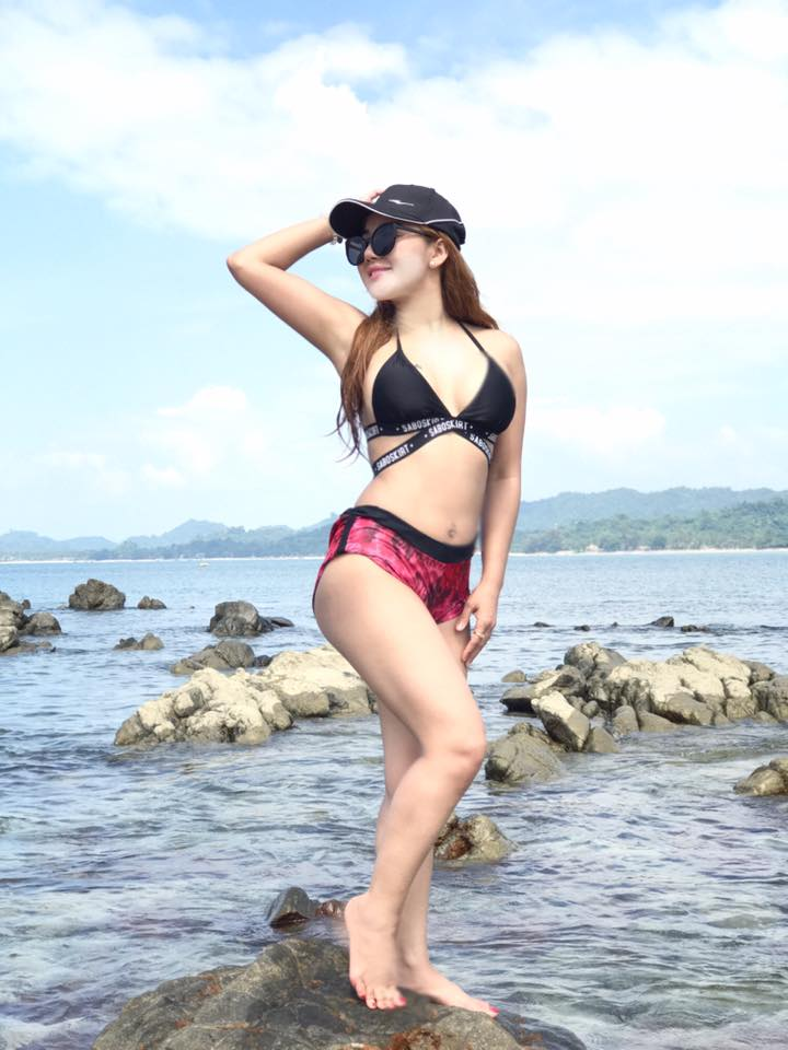 Nang Thiri Maung Fun Fashion Snaps At The Beach