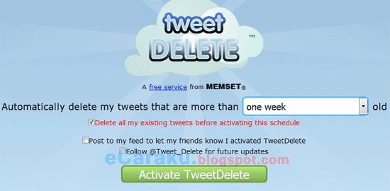 Twitter, Cara Cepat Menghapus Banyak Tweet Sekaligus