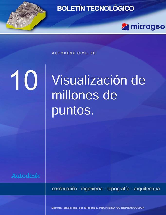 Visualización de millones de puntos – Autodesk Civil 3D 2008