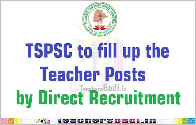 TSPSC,Teacher Posts,Direct Recruitment 2016