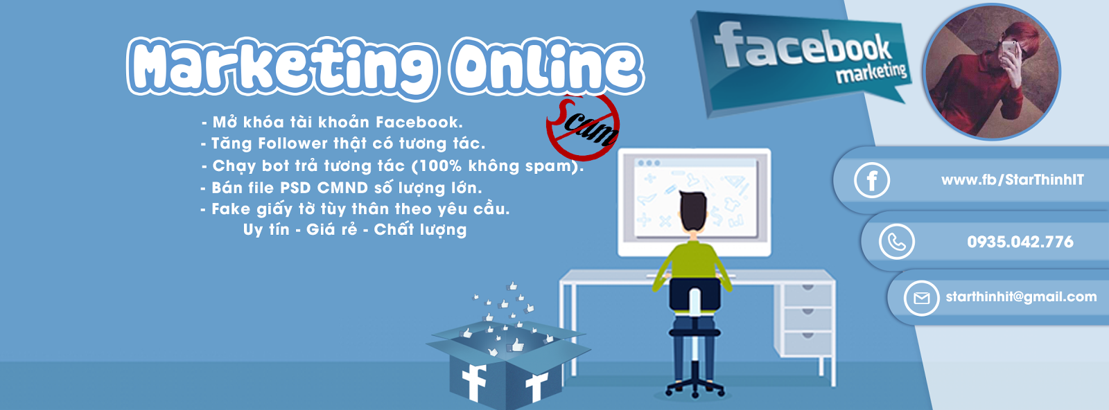 [ PSD ] Marketing Facebook Online. Ảnh Bìa ...
