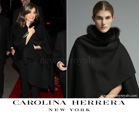 Queen Letizia wore Carolina Herrera Cape