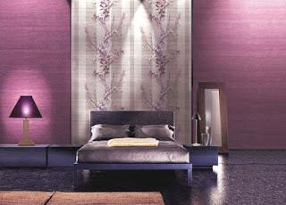 Habitación color violeta