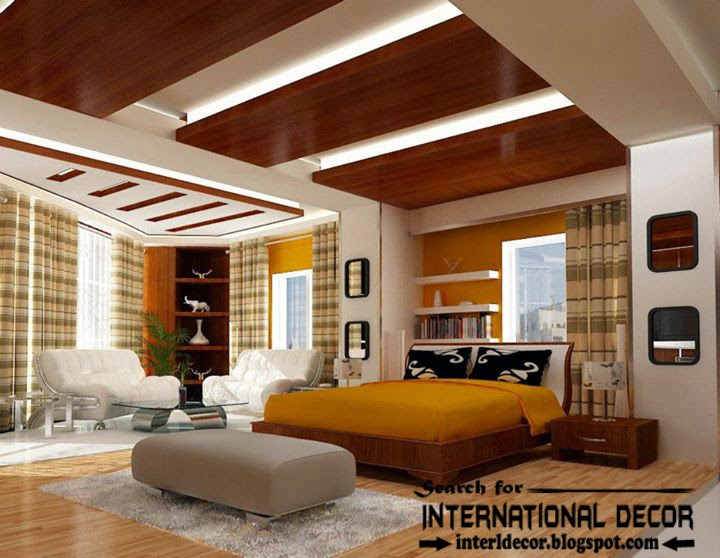 Contemporary Pop False Ceiling Designs For Bedroom 2015 Interior