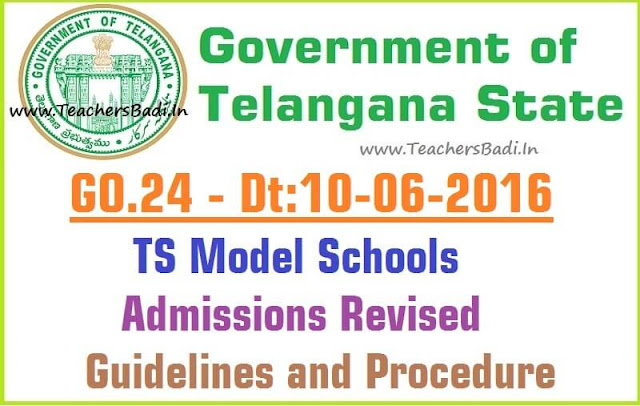 TS Model Schools,Admissions,Guidelines and Procedure