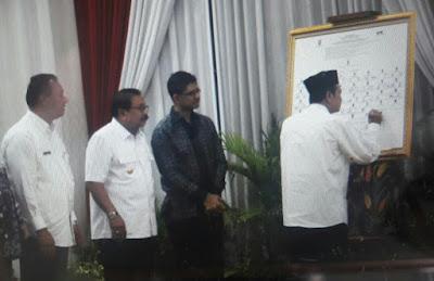 Walikota Mojokerto Tandatangani Komitmen  Bersama Pemberantasan Korupsi Terintegrasi