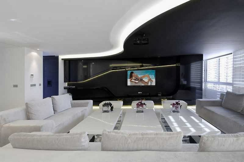 Futuristic Black and White Apartment picture