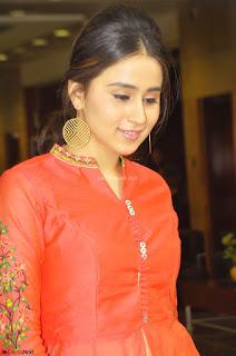Simrat in Orange Anarkali Dress 09.JPG