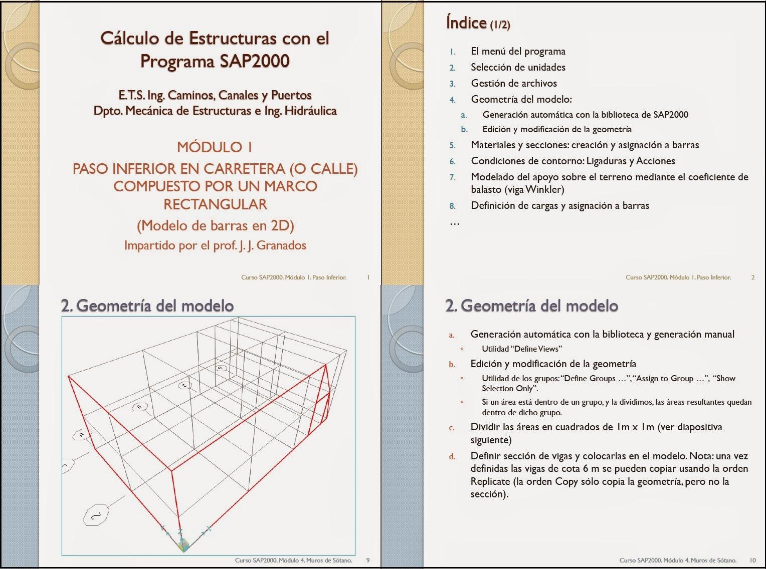 Cálculo De Estructuras Con El Programa Sap2000