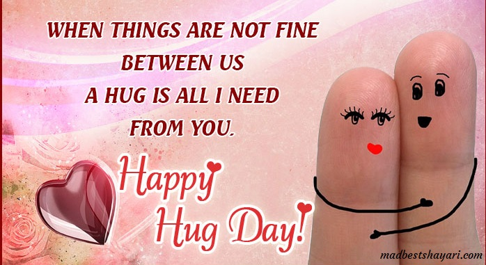 Happy Hug Day Shayari Images
