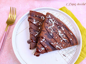 Crêpes chocolat noix de coco