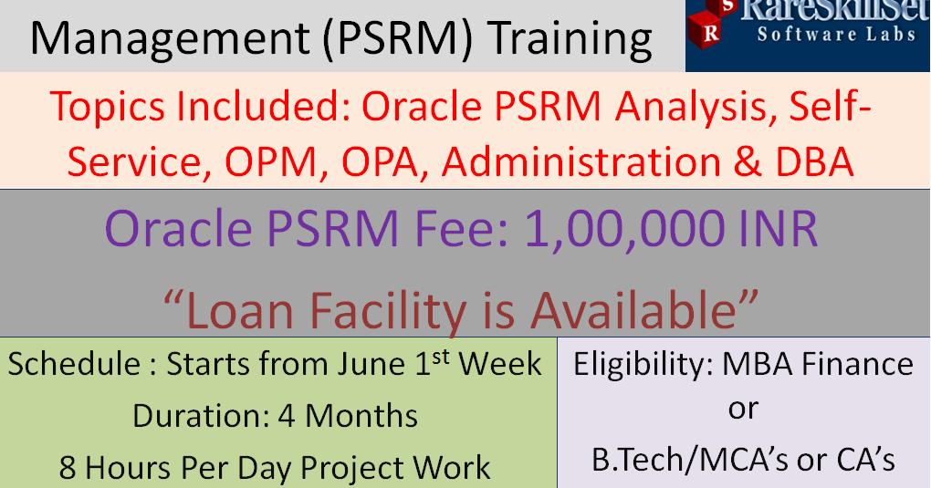Oracle Public Sector Revenue Management (PSRM) Training