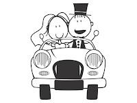 noivinhos convite casamento vetor