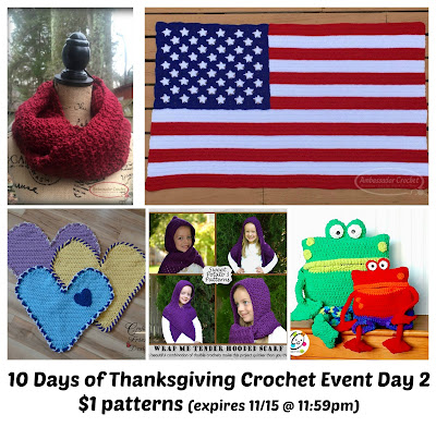 10 Days of Thanksgiving Crochet Event Day 2 offer