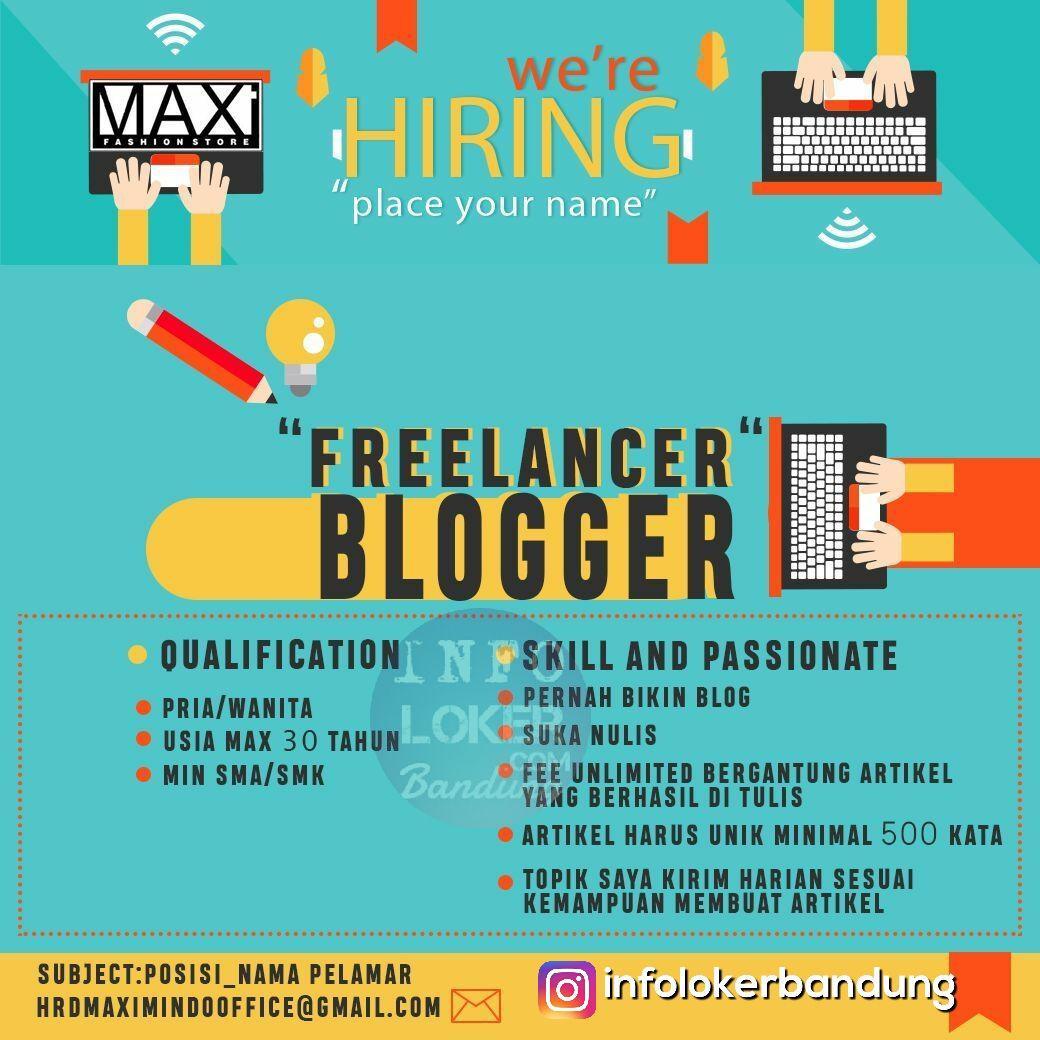 Lowongan Kerja Freelance Blogger Maximindo Supply November 2017