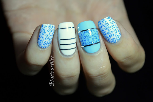 stamping striping tape homemade decal pottery nails